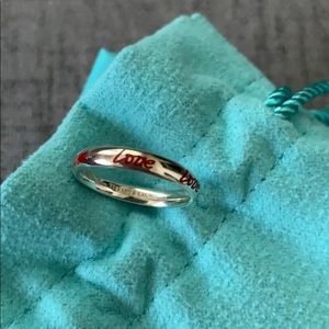 Authentic Tiffany&Co Paloma Picasso LOVE Ring 4.5